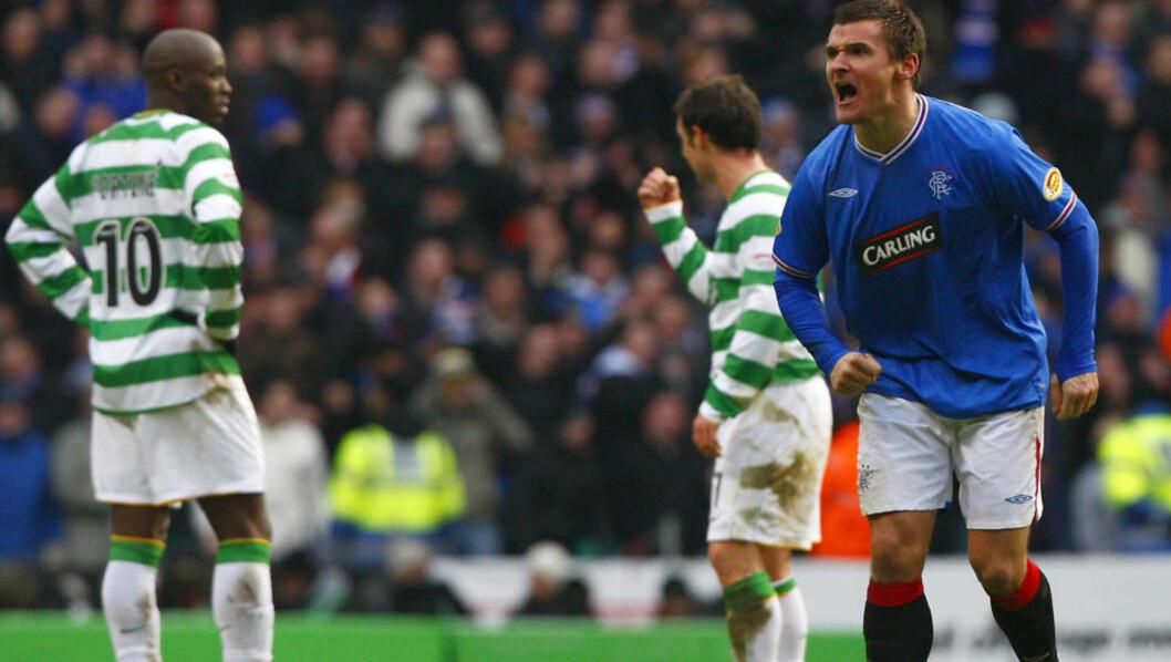 <strong>RANGERS-RAN:</strong> Bare to minutter etter at Celtic omsider hadde scoret, scoret Lee McCulloch med Rangers' første avslutning i kampen. Foto:  REUTERS/David Moir