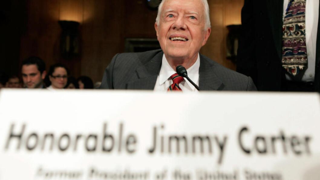 <strong>APPELLERER:</strong> Jimmy Carter ber verdens stormakter om å bidra til at Aung San Suu Kyi kan settes fri. Foto: Mark Wilson/Getty Images/AFP/Scanpix