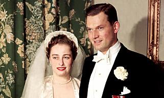 19530515. Prinsesse Ragnhilds bryllup 1953. Prinsesse Ragnhild gifter seg med skipsreder Erling Lorentzen. Arkivfoto: NTB-arkiv / SCANPIX