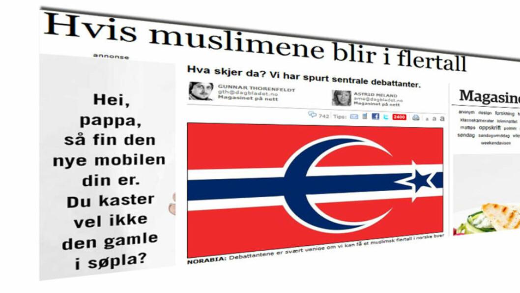 DAGBLADET.NO DENNE UKA: Mange har reagert på at Dagbladet.no tok opp om muslimer kan bli i flertall i Norge.
