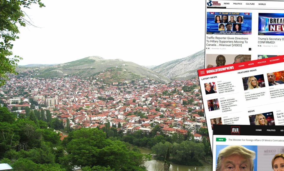 NYSKAPENDE: I denne makedonske byen har mange av de største og mest elleville valgkampnyhetene i USA blitt til. En gjeng unge nettentreprenører har gjort stor industri på fabrikkeringen av falske nyheter og konspirasjonsteorier til Donald Trumps tilhengere i USA. Foto: Creative Commons.