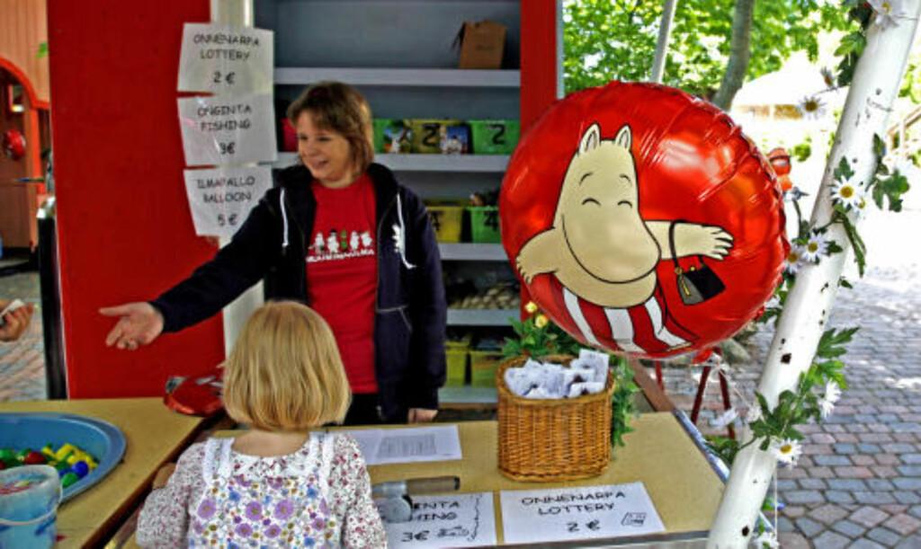 BALLONG: Alt koster flesk, bare det har noe med Mummi å gjøre. Likevel er de heliumfylte ballongene svært populære.