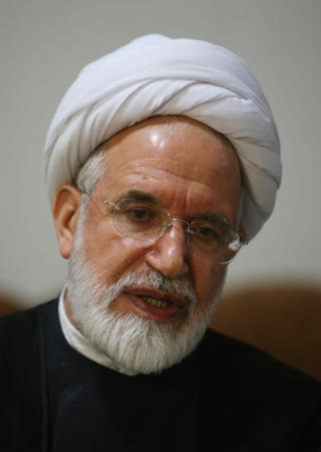 <strong>KJEMPER VIDERE:</strong> Mehdi Karroubi vil bruke ethvert middel han kan. Foto: AFP PHOTO/ATTA KENARE