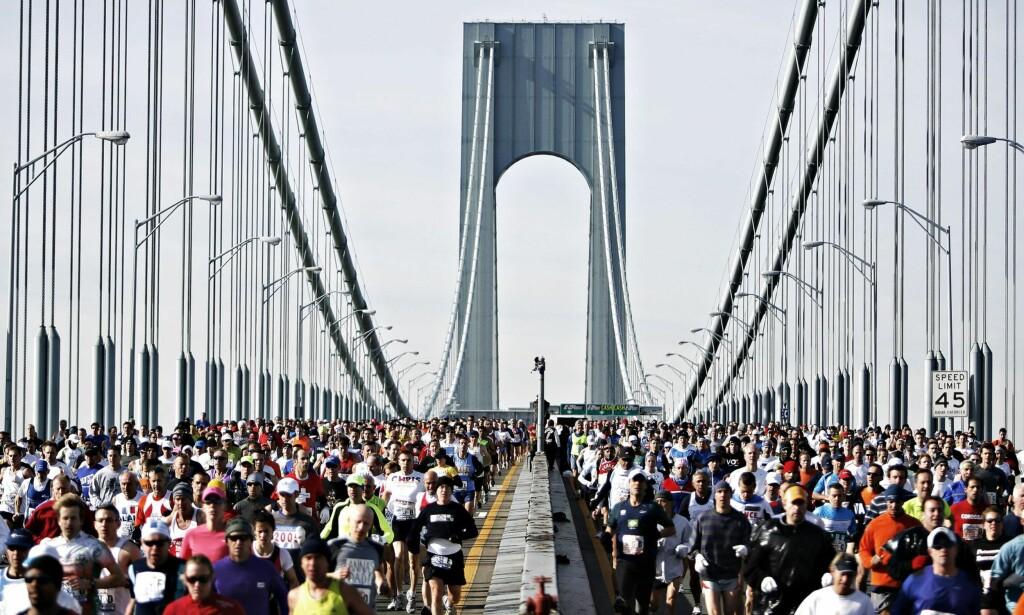 TANKELØP: Ingrid Wergeland debuterte i New York maraton og foruten å la beina løpe lot hun også tankene få løpe fritt. <br>Foto: Lucas Jackson / NTB Scanpix