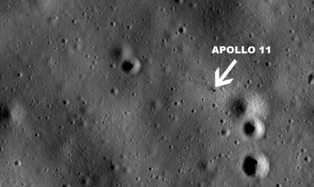 ROMSTASJON: På dette bildet kan man se Apollo 11. Foto: NASA/Goddard Space Flight Center/Arizona State University