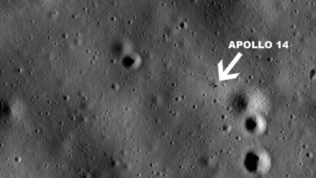 APOLLO 14: Her er et av bildene som viser romstasjonen Apollo 14. Foto: NASA/Goddard Space Flight Center/Arizona State University
