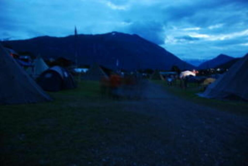 SMITTET: Bilde fra leiren i kveld. Foto: Beate Patay/4H