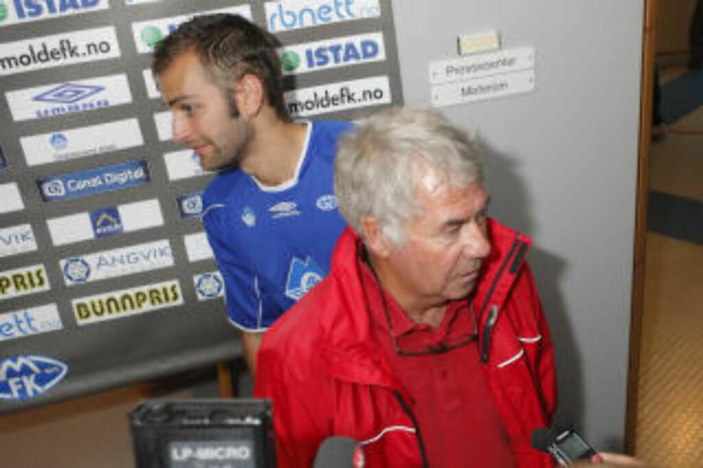 AKTUELL: Magne Hoseth er førstemann på lista om Drillo får forfall til Skottland-kampen. Her fra pressesonen etter praktkampen mot Start i går. Foto: Svein Ove Ekornesvåg / SCANPIX
