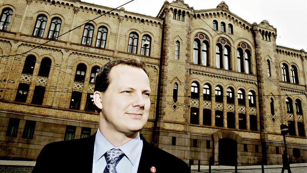 FULL OLJE-KRIG: Ketil Solvik-Olsen, stortingsrepresentant for Frp, sitter i energi- og miljøkomiteen og nevnes som olje- og energiminister av mange dersom Frp får regjeringsmakt. Foto: KRISTIAN RIDDER-NIELSEN / Dagbladet