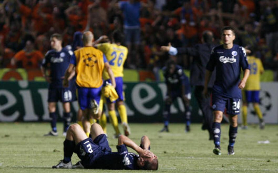 <strong>NORDEN UTSLÅTT:</strong> Det blir ingen nordiske innslag i Champions League denne sesongen, etter at FC København gikk på et pinlig nederlag på Kypros. Foto: AP