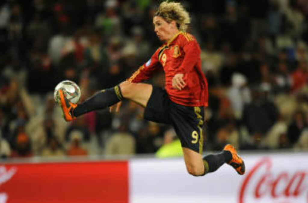 LIVERPOOL OG SPANIA: Fernando Torres blir å se både i Champions League og i Fotball-VM. Foto: AFP/ROBERTO SCHMIDT
