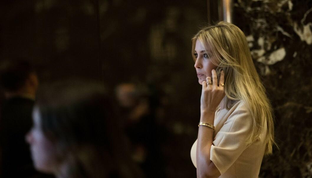 <strong>ARMBÅND-DRAMA:</strong> Ivanka Trumps luksusarmbånd med en prislapp på rundt 84 000 norske kroner ble promotert av merket hun eier etter «60 Minutes»-intervjuet familien hadde. Nå legger designselskapet seg flate. Foto: NTB scanpix
