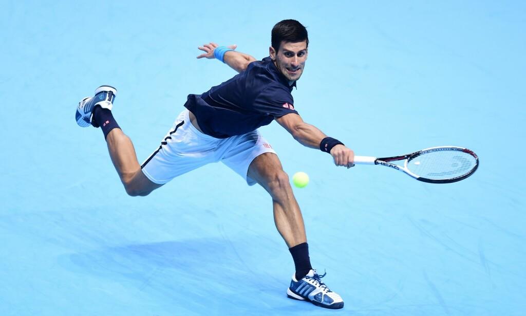 I FORM: Novak Djokovic under dagens kvartfinale mot David Goffin. Foto: NTB Scanpix