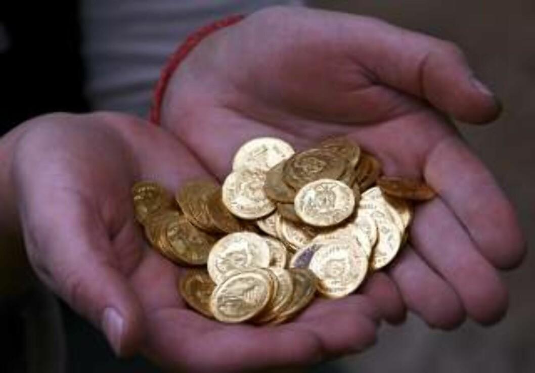 <strong>MANGE:</strong> Foreløpig har arkeologene funnet 264 mynter. OLIVIER FITOUSSI ISRAEL OUT