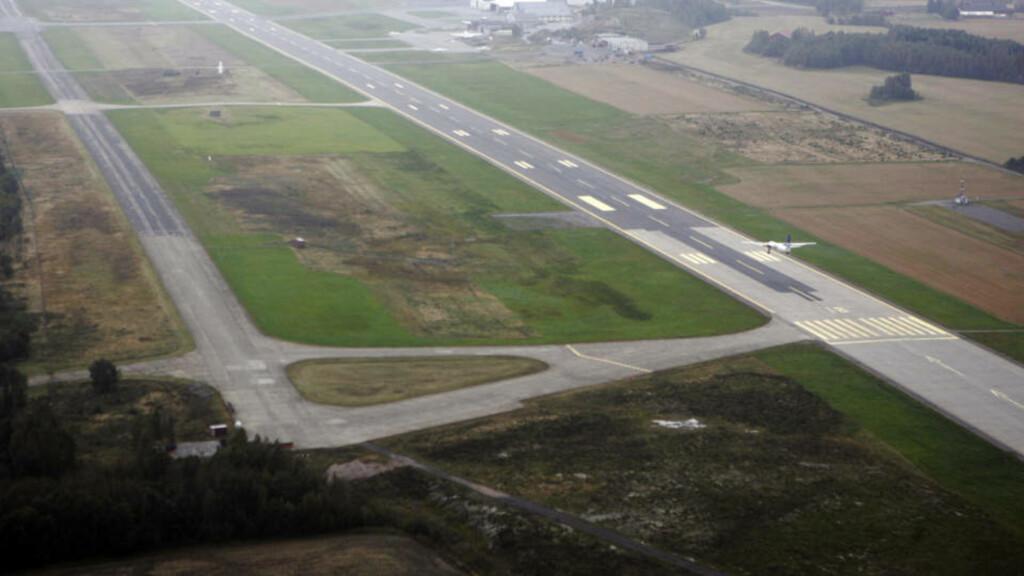 TORP 20050920. Flyfoto av Torp Flyplass Sandefjord. Flystripe. Foto: Cornelius Poppe / SCANPIX