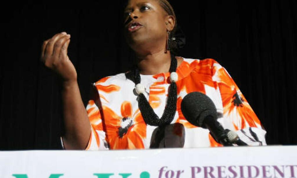 STILTE TIL VALG: Men det ble Barack Obama, og ikke Cynthia McKinney, som ble USAs første afroamerikanske president. Foto: Mario Tama/Getty/AFP/Scanpix