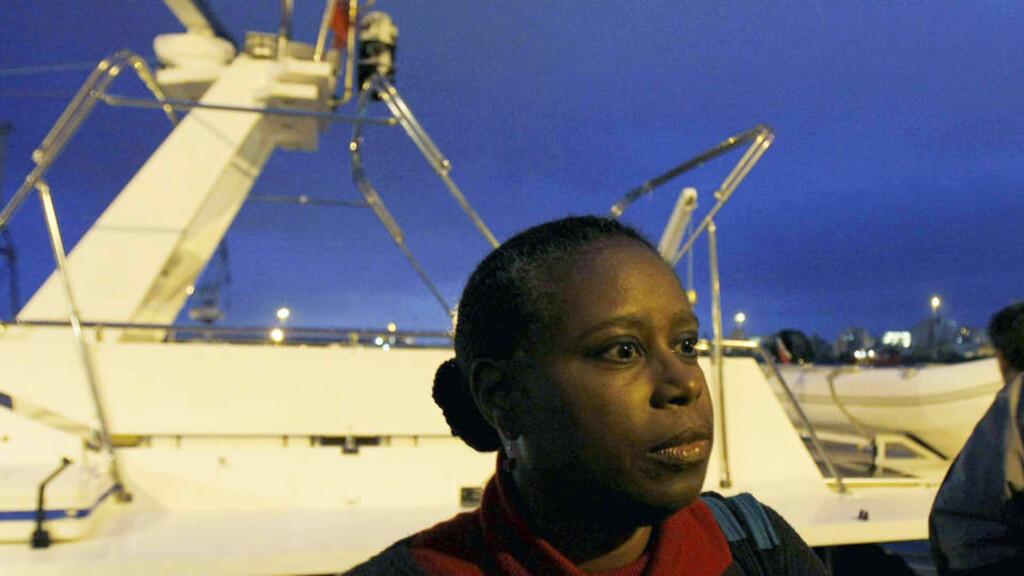 I HARDT VÆR: Cynthia McKinney møter motbør etter å ha vært ombord et nødhjelpsfartøy som sies å ha blitt angrepet av israelsk marine. Foto: Petros Karadjias/AP/Scanpix