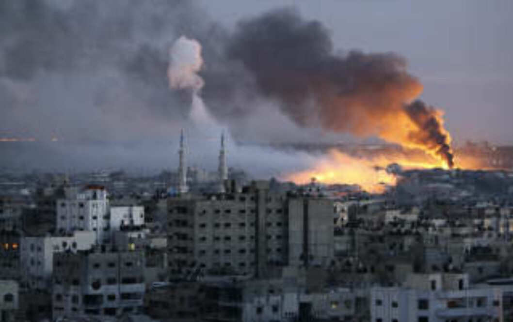 HARDE KAMPER: Gaza i går. Foto: REUTERS/Mohammed Salem/Scanpix