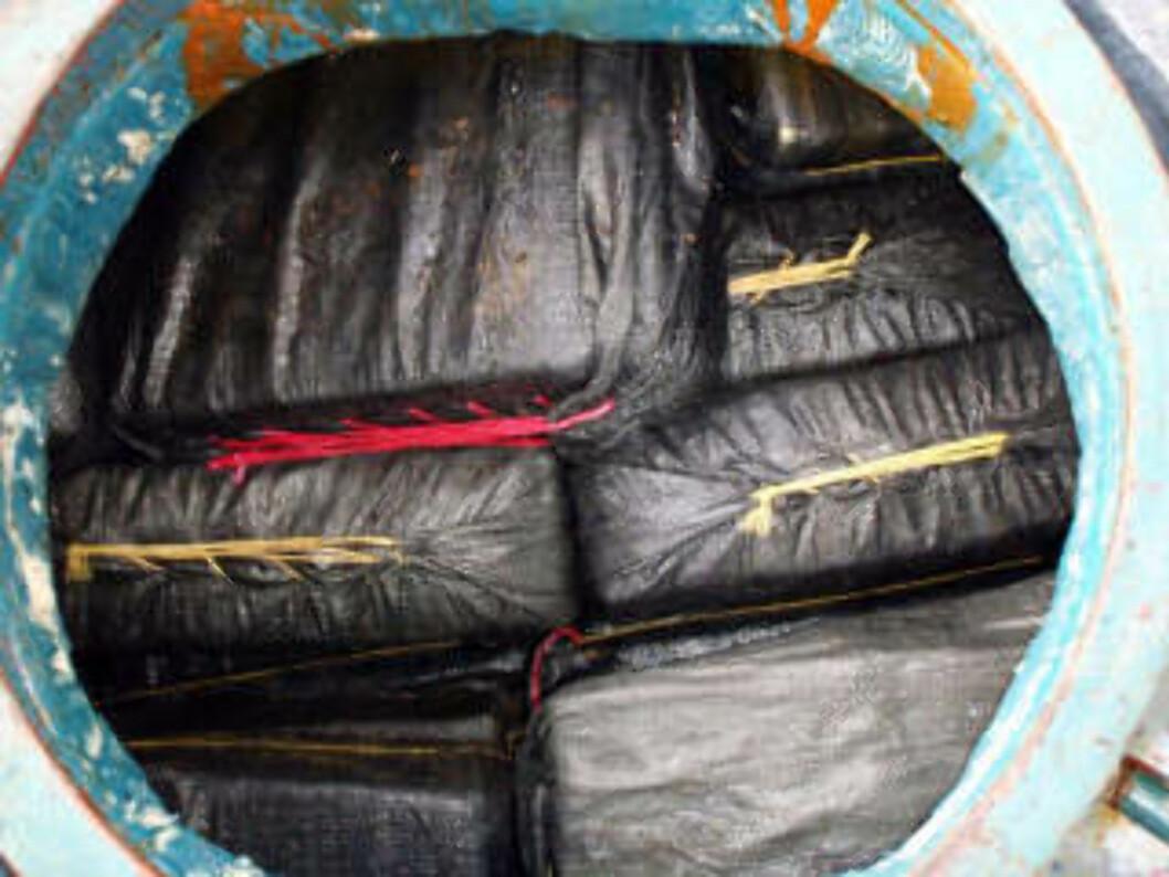 <strong>KOKAIN:</strong>  Dette fartøyet ble anholdt uten at smuglerne rakk å senke det 13. september.  Om bord fant politiet nesten 7 tonn kokain. Foto:  Nico Figueroa/Scanpix