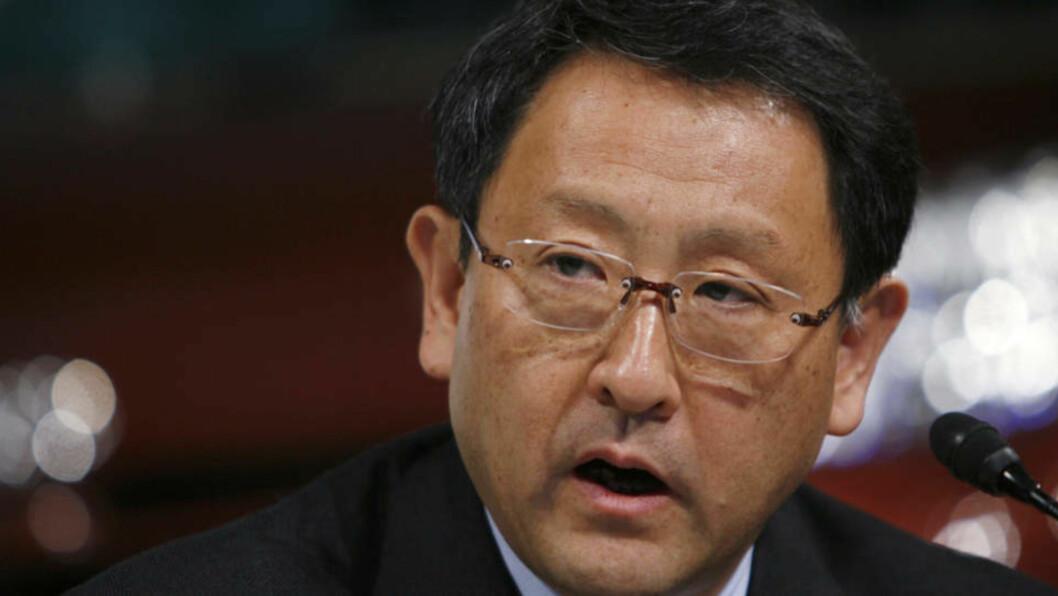 <strong>TAR OVER RATTET:</strong> Visepresident Akio Toyoda tar over selskapet på et verst mulig tidspunkt. Foto: Scanpix/Reuters