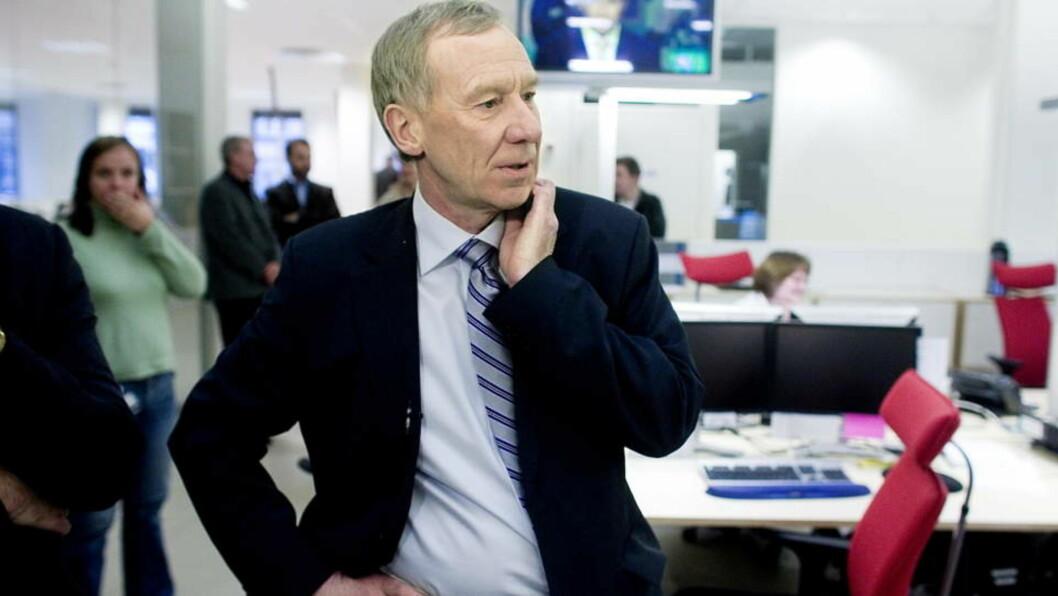 <strong>INFORMERTE GISKE:</strong> TV 2-sjef Alf Hildrum mener forbudet mot politisk reklame i Norge ikke lenger er gyldig. Foto: BJØRN LANGSEM