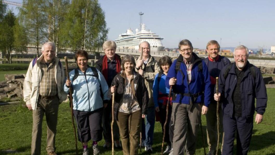 FÅR EN NY BISKOP: Her er norske biskoper klare for starten av  pilegrimsferden fra Middelalderparken i Oslo til  Nidaros. I dag er det elleve biskoper i NOrge, men snart blir det tolv. Foto: Knut Falch / SCANPIX