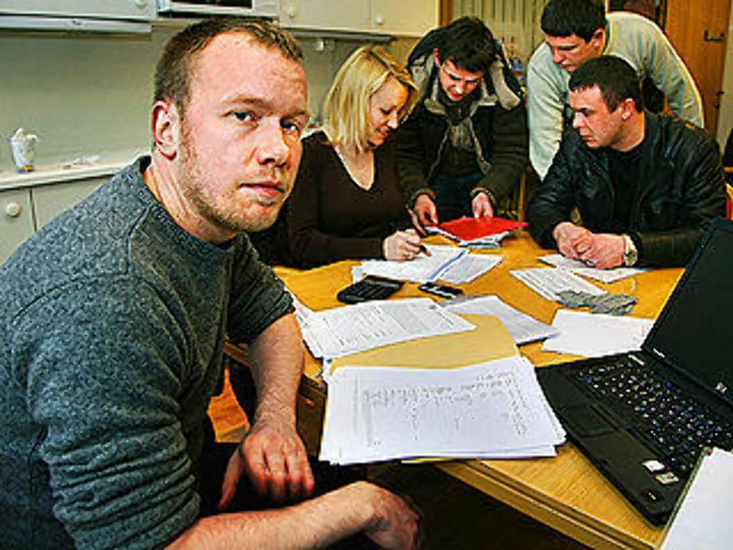 <strong>MILLIONKRAV:</strong> Ombudsmann i Oslo bygningsarbeiderforening, Jonas Bals, sier at totalkravet fra arbeiderne kan ende opp i mellom to til tre millioner kroner. Foto: STEINAR BUHOLM