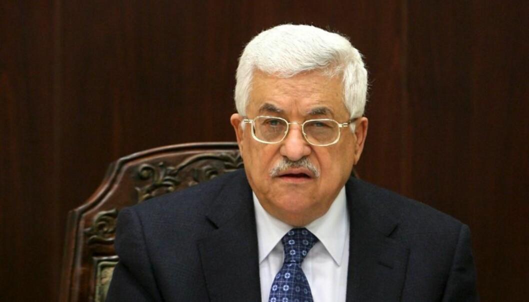 TIL OSLO: Mahmoud Abbas. Foto: EPA/ATEF SAFADI/Scanpix