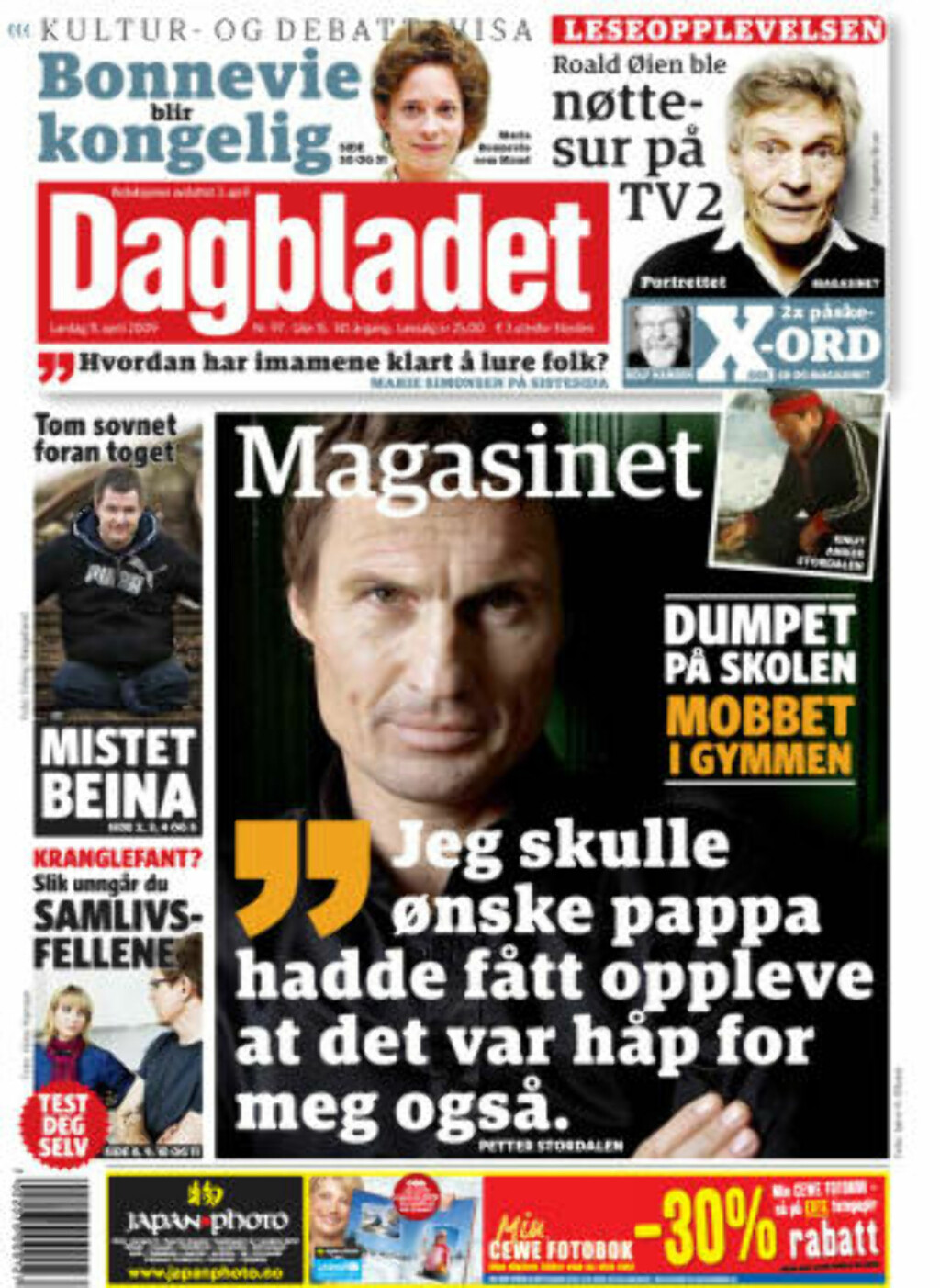 DAGENS PAPIRAVIS:  Dagbladet i dag.