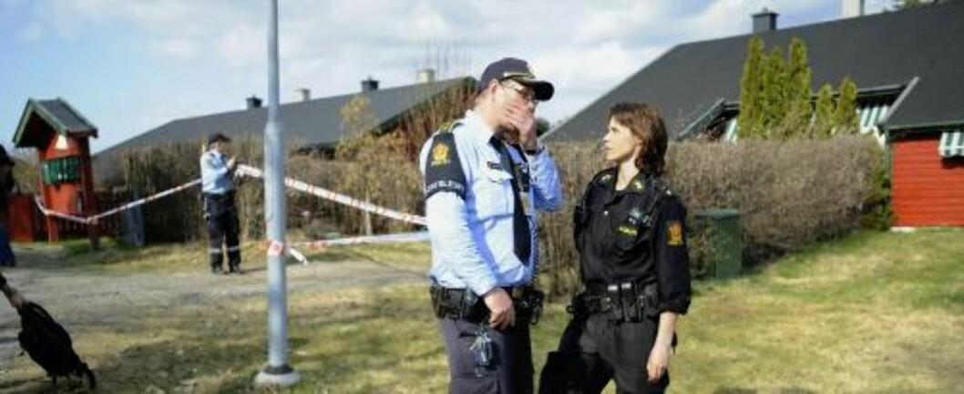 <strong>ÅSTEDET:</strong> En kvinne i 50-årene ble i 13-tiden i dag funnet drept i Son i Vestby. Foto: THOMAS RASMUS SKAUG