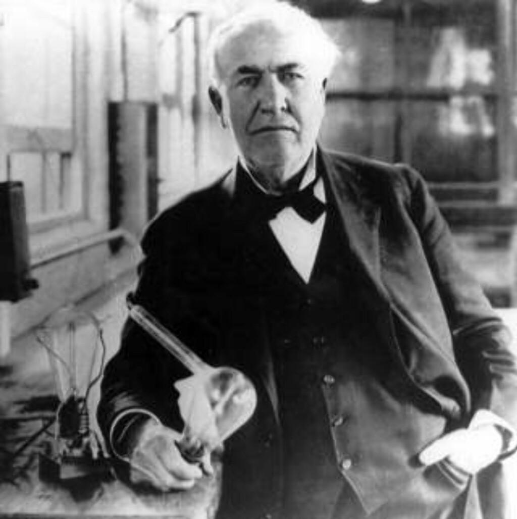 PIRAT: Datidas musikere mente Thomas Alva Edison, oppfinneren av fonografen, var en pirat som tok fra dem levebrødet. Men Edisons oppfinnelse ga støtet til royaltysystemet, og dermed til den moderne musikkindustrien. Foto: SCANPIX