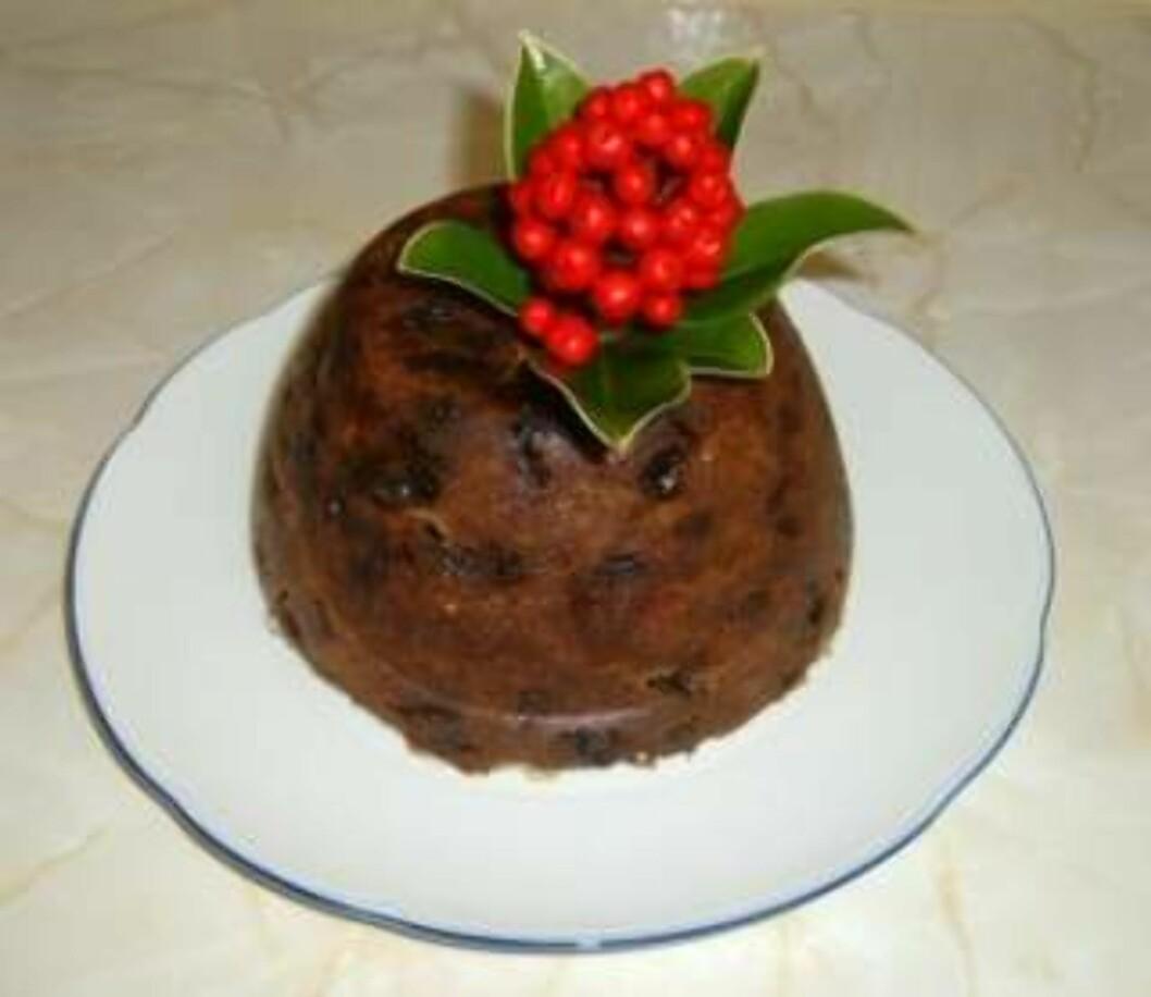 <strong>ROBUST KAKE:</strong> Hvert år er det kakeløp i Covent Garden. En tradisjonell Christmas Pudding tåler mye.Foto: Wikimedia