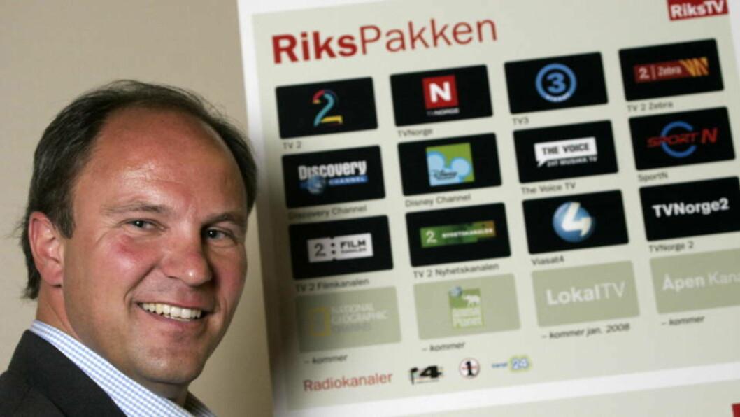 <strong>AVVISER:</strong> Administrerende direktør i RiksTV, Espen Thorsby, avviser at TV 2 har fått noen fordeler på bekostning av konkurrentene. De vurderer nå å påklage vedtaket.
