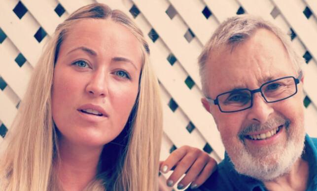 PAPPAJENTE: Stine Hartmann har et nært forhold til pappa Sigurd. Foto: Privat