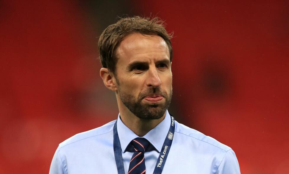 HET KANDIDAT: Gareth Southgate er en av favorittene til den ledige jobben som landslagssjef for England, etter å ha ledet laget de fire siste kampene. Foto: NTB Scanpix