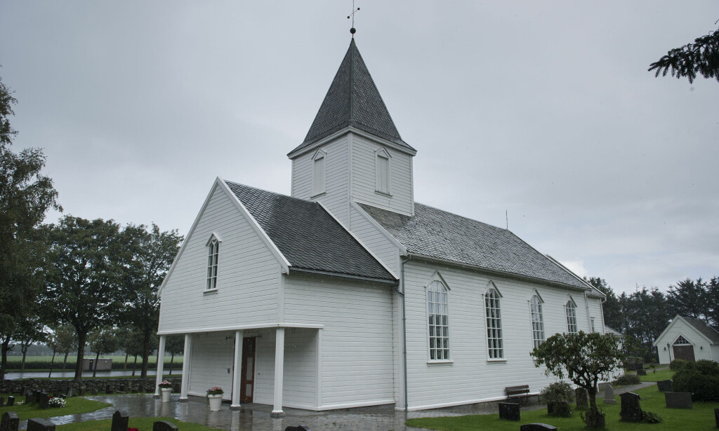 DRAP: Tina Jørgensen ble funnet i kummen på parkeringsplassen utenfor Bore Kirke i Rogaland. Foto: Carina Johansen / NTB scanpix