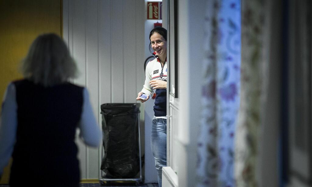 LAGKAPTEIN: Marit Bjørgens kapteins- og mammarolle på skilandslaget har vært uvurderlig i den utfordrende perioden i høst. Foto: Bjørn Langsem / Dagbladet