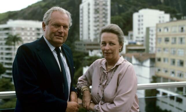 RØMTE LANDET: Erling Lorentzen og prinsesse Ragnhild bodde mange år i Rio i Brasil. Her er de fotografert av Aftenposten i 1980. Foto: Dag W. Grundseth / Aftenposten, NTB scanpix