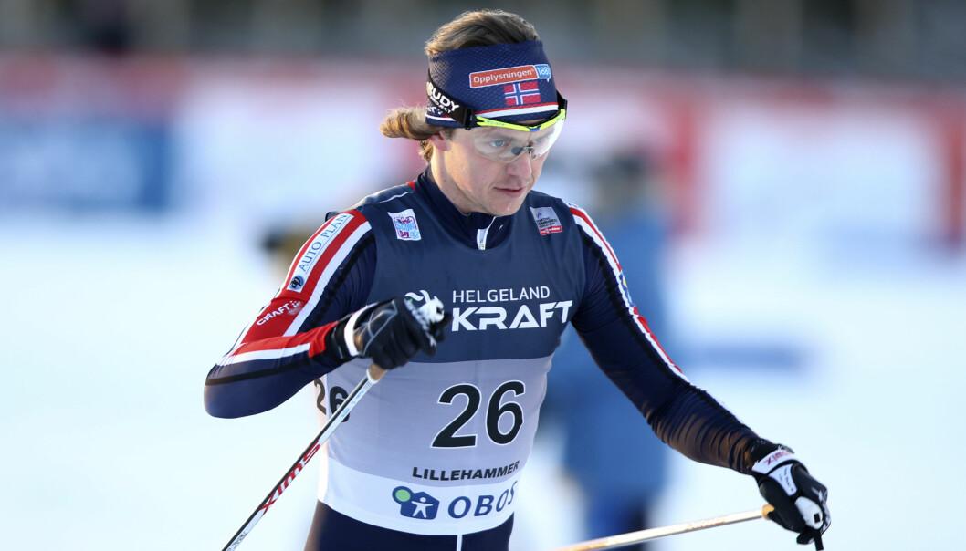 GULL: Mikko Kokslien gikk til topps i NM i kombinert på Beitostølen lørdag. 31-åringen viste sterk langrennsform og parkerte konkurrentene. <div></div><div> &nbsp;Foto: Terje Pedersen / NTB scanpix</div>