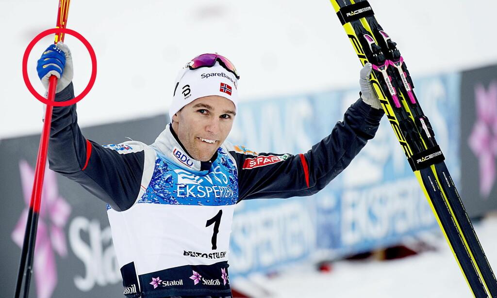 SVENSK FLAGG: Didrik Tønseth vil gå med svenske flagg på hanskene fram til han får revansje på Johan Olsson. Foto: Bjørn Langsem / Dagbladet