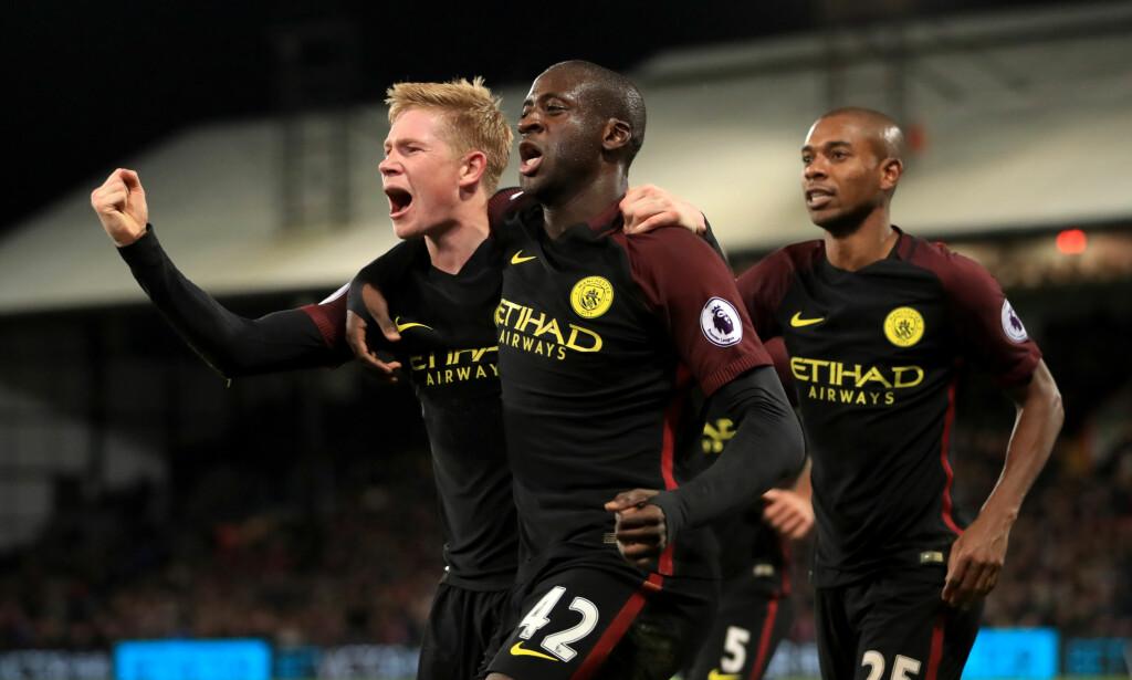 OVERRASKET: Yaya Toure var endelig tilbake for Manchester City. Han svarte med to mål borte mot Crystal Palace i 2-1-seieren lørdag.  Foto: NTB Scanpix