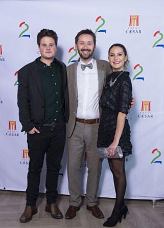 FAMILIEN BØ: Fra venstre Jakob Zachariassen Lay, Jan Martin Johnsen og Silje Hagrim Dahl spiller familien Bø i «Hotel Cæsar».