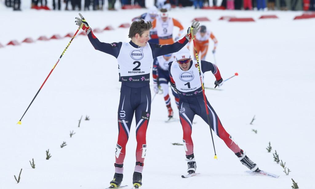 FORKLARINGEN: Johannes Høsflot Klæbo; enda en norsk storløper på gang. Det skyldes sterk sportslig kultur; og slett ikke smart medisinering eller juks. FOTO: Terje Pedersen / NTB scanpix.