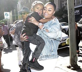 STOREBROR: Blac Chyna har en sønn fra sitt tidligere forhold til rapperen Tyga. Han er nå storebror til lille Dream. Foto: NTB scanpix