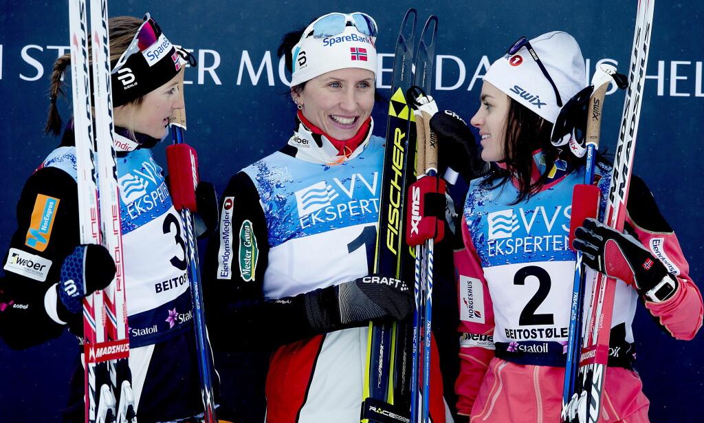 KLARE: Marit Bjørgen, Ingvild Flugstad Østberg og Heidi Weng skal alle gå verdenscupåpningen i Finland til helgen. <br>Foto: Bjørn Langsem / Dagbladet