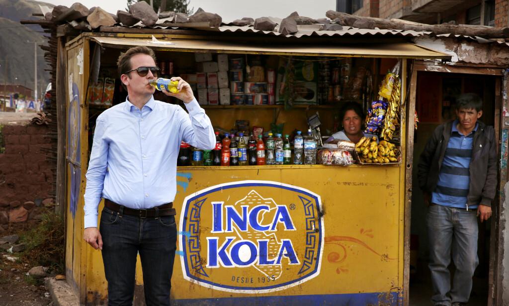 INCA KOLA: Selvlysende gul, med smak og duft av vaskemiddel.