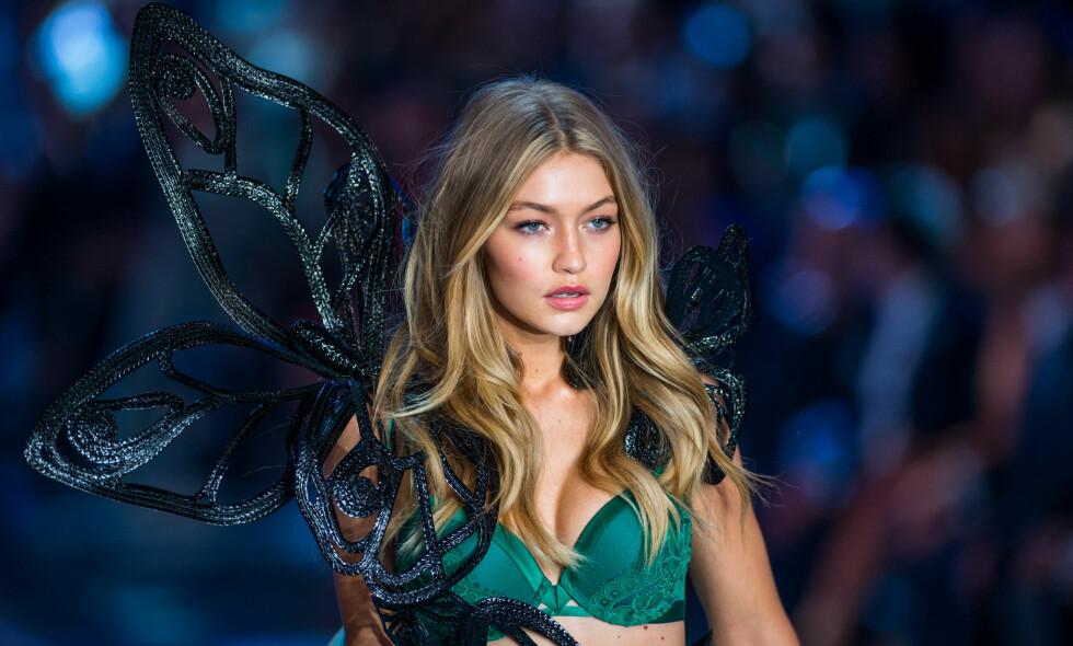 POPULÆR: Gigi Hadid har nærmere 27 millioner følgere på Instagram og er en av verdens mest kjente supermodeller. Foto: Anthony Behar/ NTB Scanpix
