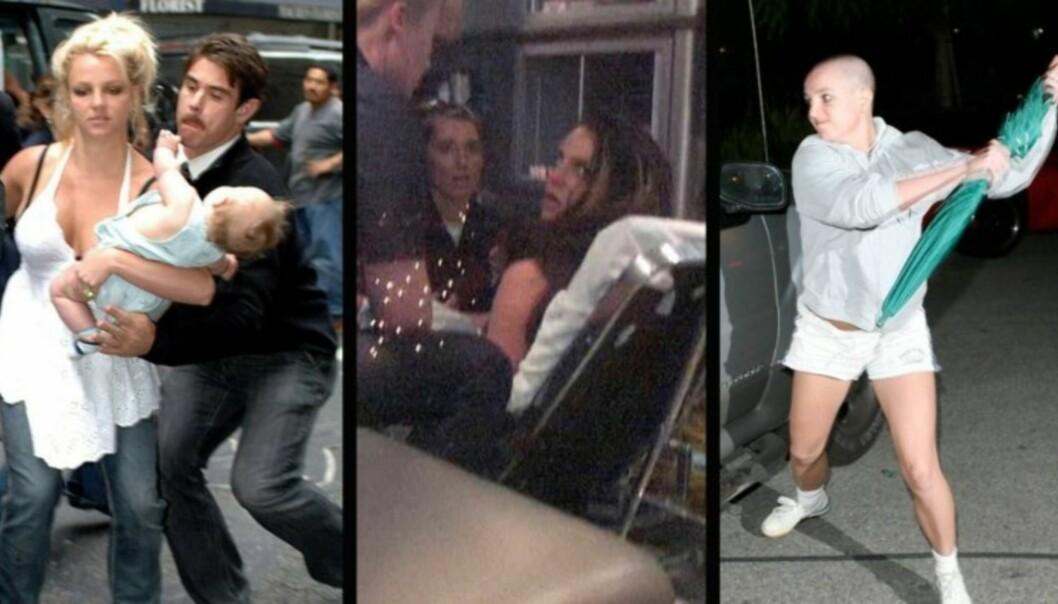 FØR: Britney Spears ble hovedpersonen i en rekke oppsiktsvekkende episoder før hun ble innlagt på psykiatrisk sykehus i 2008.