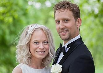 <strong>FORTSATT GIFT:</strong> Nicolai Caspari Stigar (27) og Andrea Mundal (27). Foto: Christine Reim / TVNorge