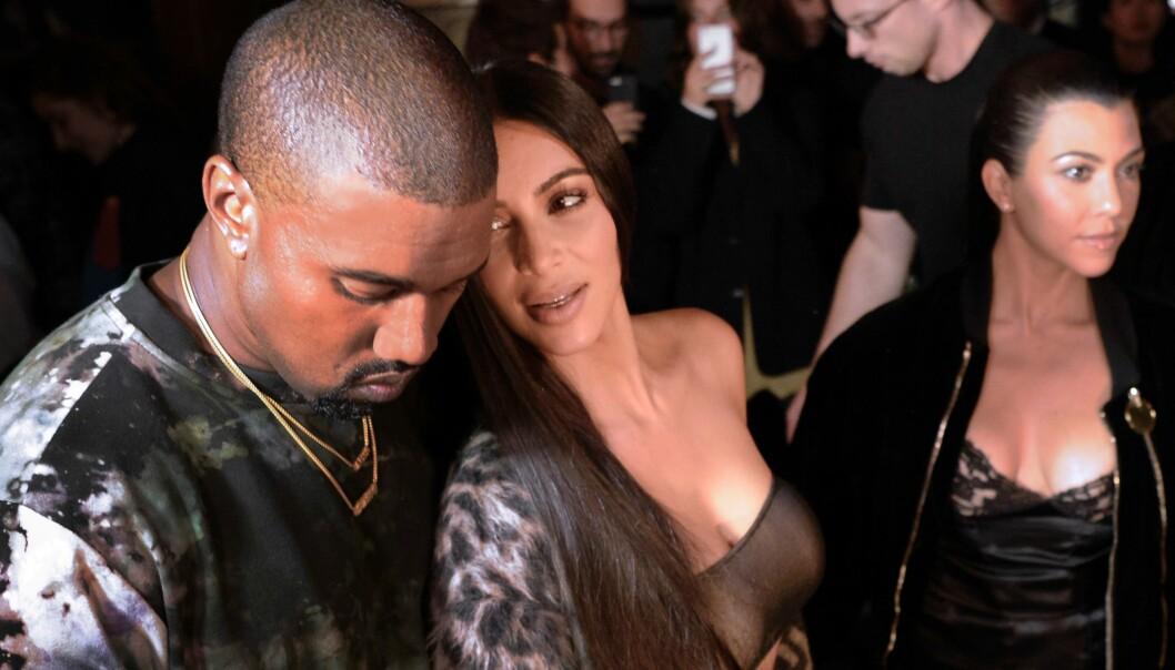 FORELSKET: Selv om Kanye og Kim har vært sammen igjennom mye holder de sammen. Foto: Scanpix